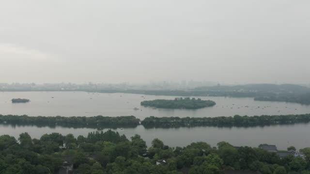 west lake aerial view - liyao xie stock videos & royalty-free footage