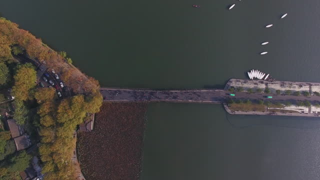 west lake from drone point of view, China