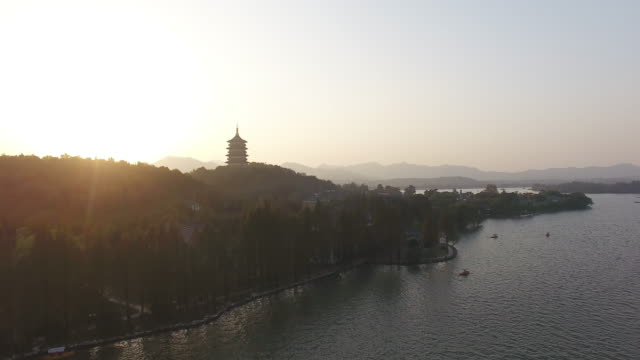 west lake, hangzhou, zhejiang province, china - zhejiang province stock videos & royalty-free footage