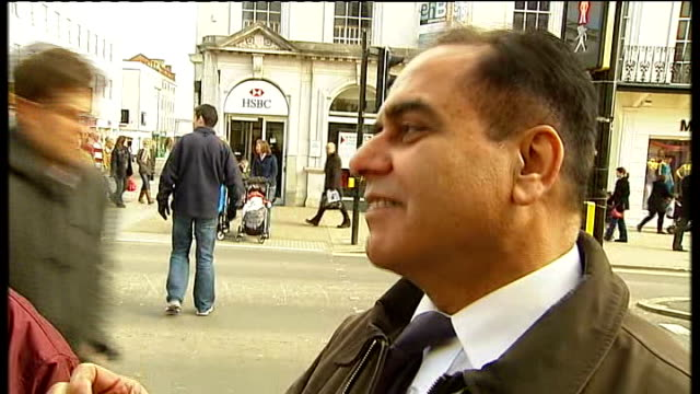 leamington spa vox pops pedestrians and shoppers along high street - leamington spa stock videos & royalty-free footage