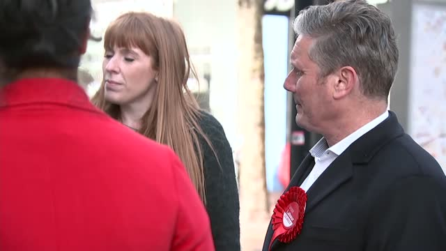 west midlands mayoral election: keir starmer, angela rayner and liam byrne campaigning in birmingham; england: west midlands: birmingham: ext sir... - kicking stock videos & royalty-free footage
