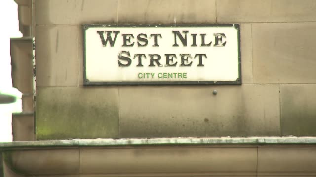west nile street in glasgow - sign - directional sign stock videos & royalty-free footage