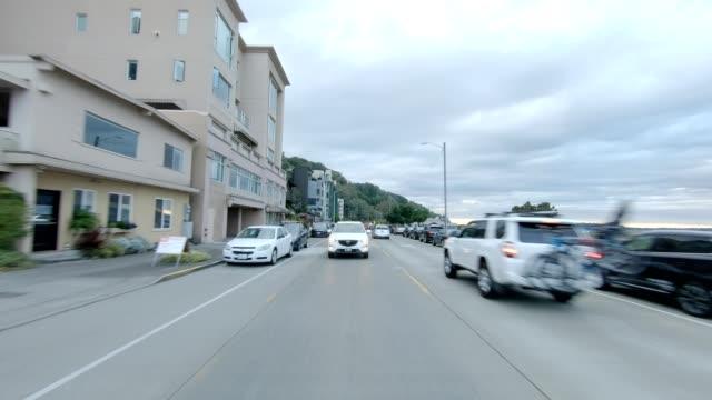 vídeos y material grabado en eventos de stock de west seattle ii sincronió serie placa de proceso de conducción retrovisora - bahía de elliott