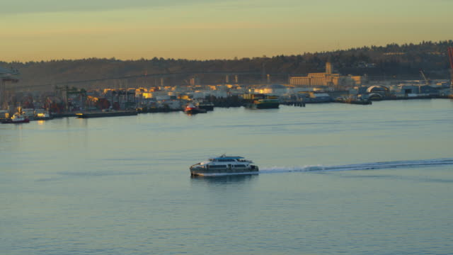 west seattle water taxi - water taxi stock videos & royalty-free footage
