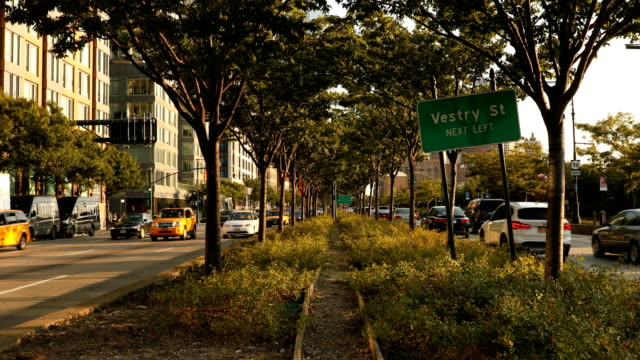 west side highway in nyc - tribeca stock videos & royalty-free footage