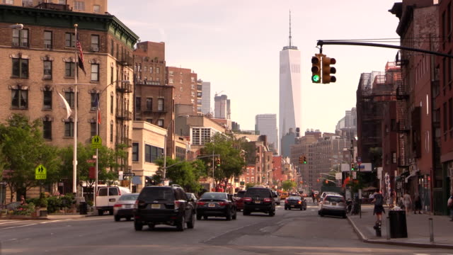 west village city life in manhattan - road signal stock videos & royalty-free footage