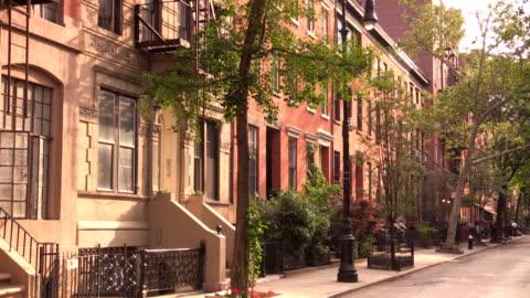 west village street vignettes in new york city - greenwich village stock videos & royalty-free footage