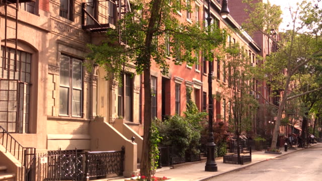 west village street vignettes in new york city - tilt stock videos and b-roll footage