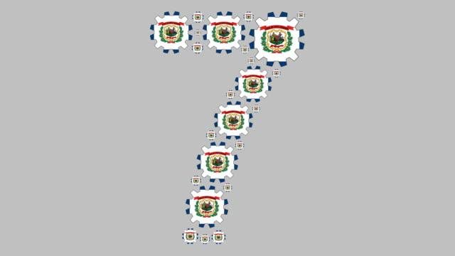 west virginia nummer sju - virginia amerikansk delstat bildbanksvideor och videomaterial från bakom kulisserna