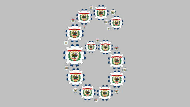 west virginia number six - virginia us state stock videos & royalty-free footage