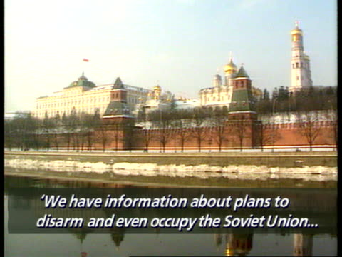 western aid moscow gv kremlin kryuchkov v/o subtitles and sof we have information about plans disarm and even occupy the soviet union ext cms tim... - former soviet union stock videos & royalty-free footage