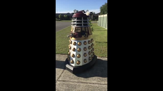 western australian doctor who fan was well-protected from any viral dangers as he put out his organics and garden waste bin on april 3, thanks to a... - doctor who stock videos & royalty-free footage
