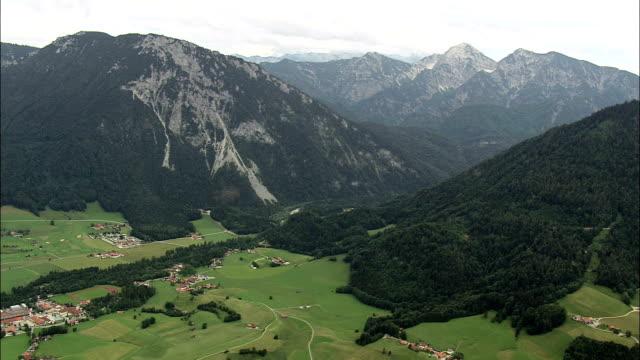 Western Edge Of Berchtesgadener Land  - Aerial View - Bavaria,  Upper Bavaria,  Landkreis Traunstein helicopter filming,  aerial video,  cineflex,  establishing shot,  Germany
