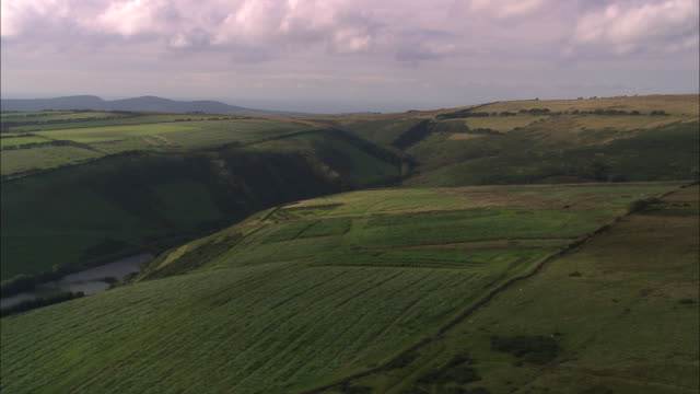 western edge of exmoor (just south of churchtown) - exmoor national park stock videos & royalty-free footage