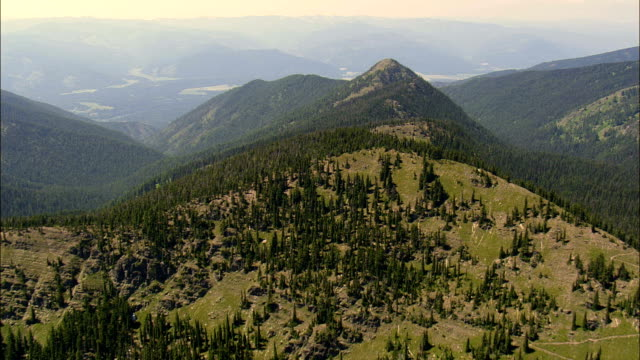 Western Edge Of Lolo National Forest  - Aerial View - Montana, Sanders County, United States