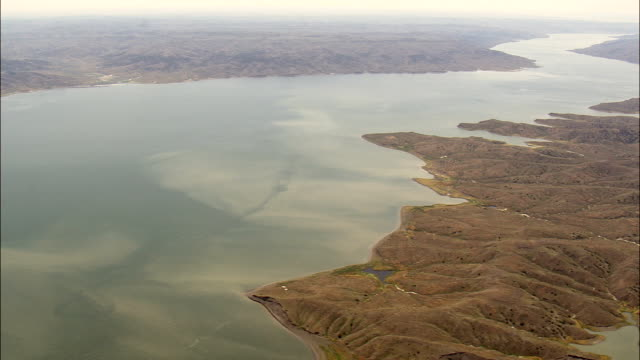 Western End Of Fort Peck Lake  - Aerial View - Montana, Phillips County, United States