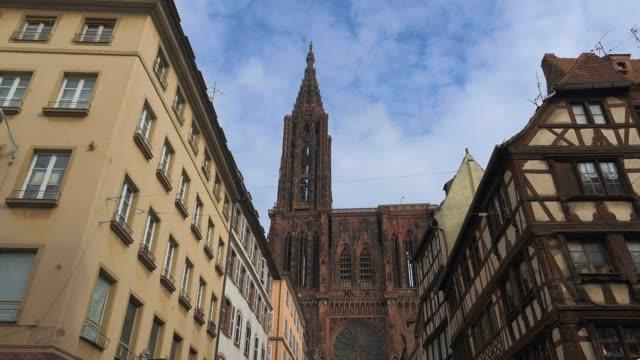 Western facade of Strasbourg Cathedral, Grande Ile, UNESCO World Heritage Site, Strasbourg, Alsace, Grand Est, France, Europe