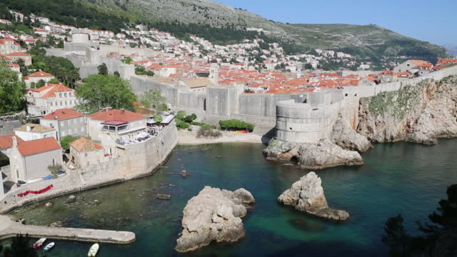 western fortifications of dubrovnik - cliff dwelling stock videos & royalty-free footage