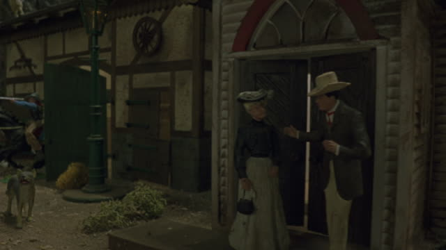 a western themed model town scrolls. - female likeness stock videos & royalty-free footage