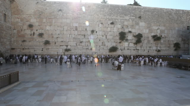 western wall in jerusalem - jerusalem stock videos & royalty-free footage