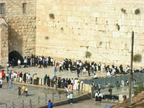 ntsc - western wall, jerusalem, israel - torah stock videos and b-roll footage