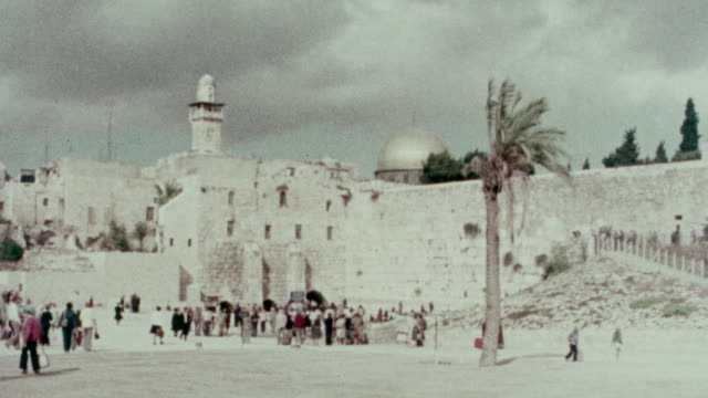 1978 western wall, jerusalem - jerusalem old city stock videos and b-roll footage