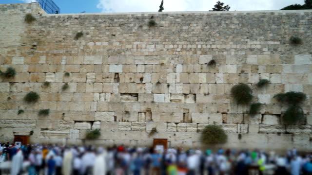 western wall pan - wailing wall stock videos & royalty-free footage