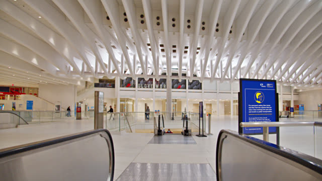 westfield station. world trade center interior. grand transportation hub. illuminated clear clean station. - architecture stock videos & royalty-free footage