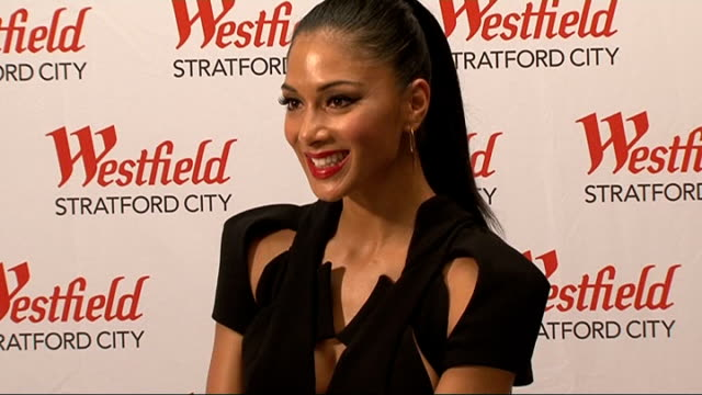 westfield stratford city shopping centre opens nicole scherzinger interview england london stratford int setup shots nicole scherzinger sitting on... - reality fernsehen stock-videos und b-roll-filmmaterial