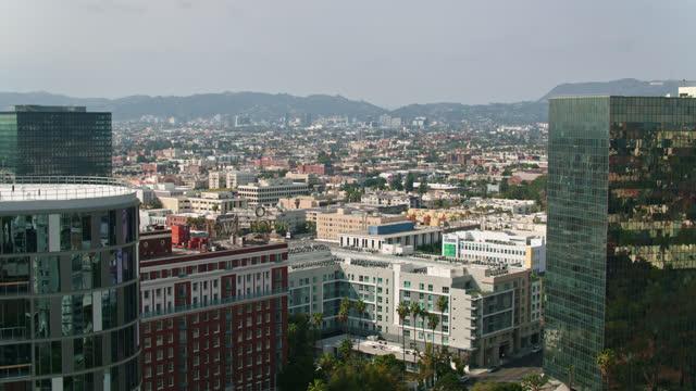 westlake looking towards west hollywood - aerial - west hollywood stock videos & royalty-free footage