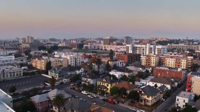 Westlake, Los Angeles at Dusk - Aerial Establishing Shot