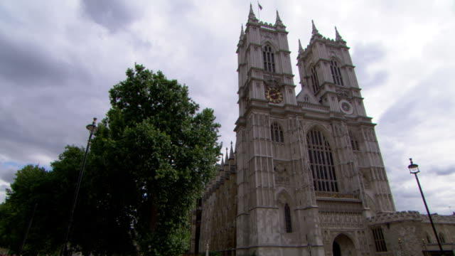 stockvideo's en b-roll-footage met ws, la, westminster abbey, london , england - 16e eeuwse stijl