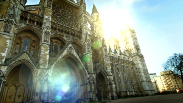 stockvideo's en b-roll-footage met westminster abbey time-lapse. hd - westminster abbey