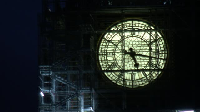 more mps face allegations england london westminster clock face of big ben seen through scaffolding time lapse / speeded up footage view across the... - scaffolding stock videos & royalty-free footage