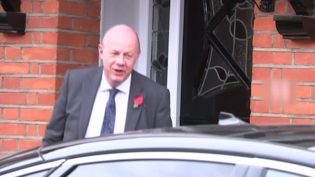 theresa may promises new independent process to handle complaints acton damian green mp departing house and speaking to press then getting in car sot... - suspicion stock videos & royalty-free footage