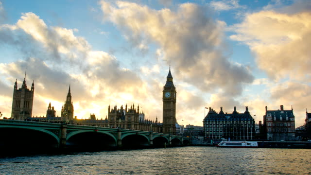 Westminster and Big Ben, London, UK, time lapse