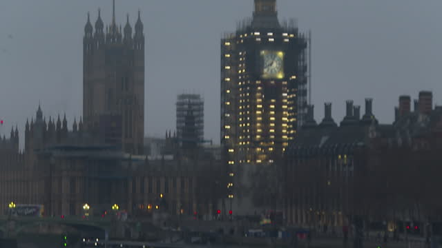 westminster and the houses of parliament - clock tower stock videos & royalty-free footage