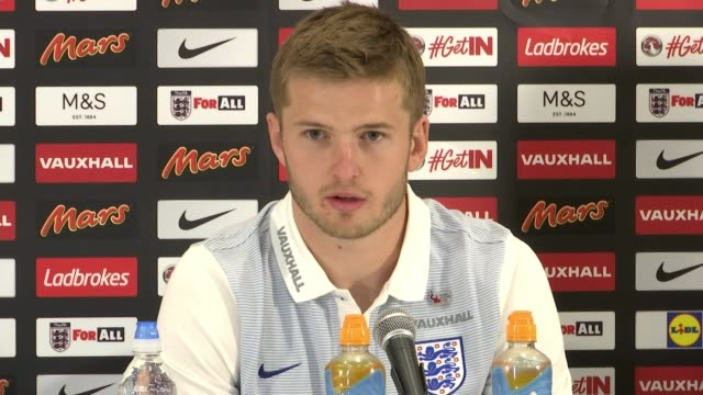 Football League announces antiknife crime initiative Hertfordshire Watford INT Eric Dier press conference SOT comments on Westminster Terror Attack a...