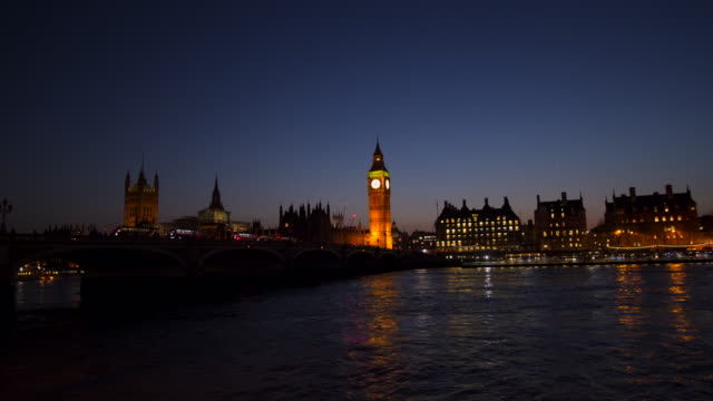 westminster big ben at night, london, england, uk - big ben stock videos & royalty-free footage