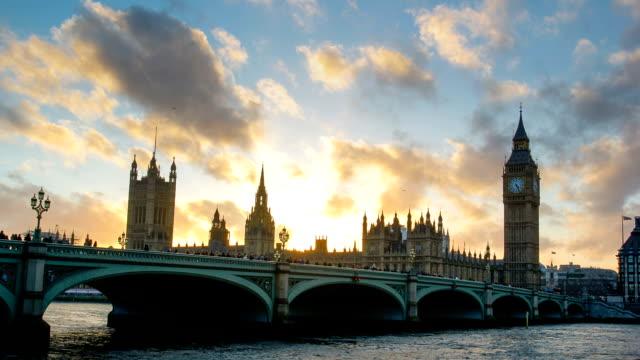 Westminster Big Ben time lapse, London, UK
