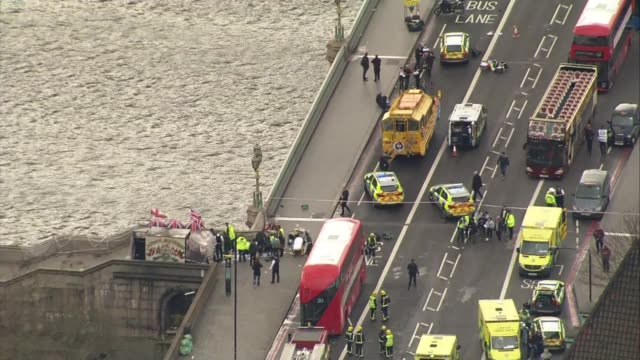 family of victim aysha frade give evidence to inquest r220317001 / england london westminster emergency services on westminster bridge in aftermath... - westminster bridge stock-videos und b-roll-filmmaterial
