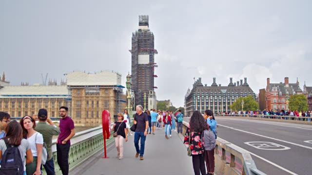 westminster bridge. big ben. london - westminster bridge stock videos & royalty-free footage
