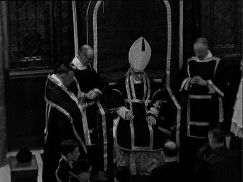 westminster cathedral requiem mass for president kennedy requiem mass held in westminster cathedral in memory of us president john f kennedy led by... - john f. kennedy us president stock videos and b-roll footage