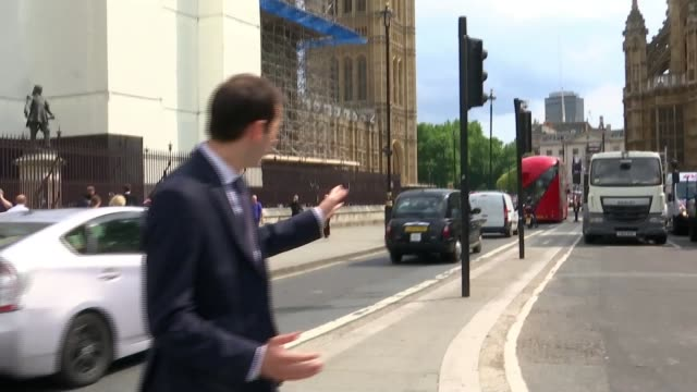 Salih Khater's trail for attempted murder begins ENGLAND London Westminster EXT Reporter to camera SOT