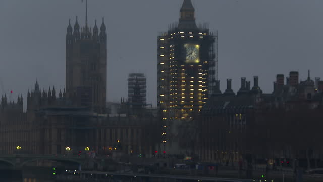 westminster in the early morning - clock tower stock videos & royalty-free footage