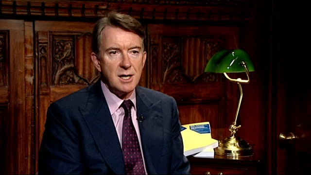 lord mandelson interview sot calls on phoenix directors to offer a hint of modesty and humility - humility stock videos and b-roll footage