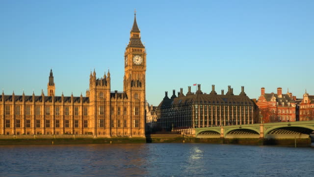 westminster palace and big ben, london, england, united kingdom - westminster bridge stock videos and b-roll footage