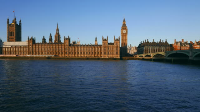 westminster palace and big ben, london, england, united kingdom - parliament building stock videos & royalty-free footage
