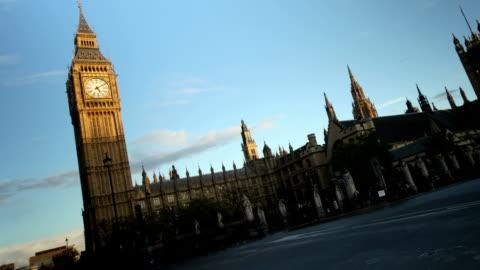 westminster tramonto - uomo politico video stock e b–roll