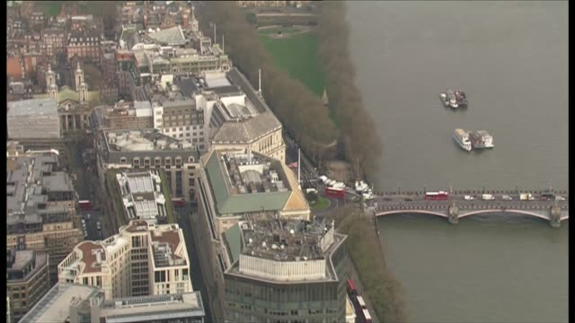 air views of morning after attack westminster terror attack air views of morning after attack england london westminster westminster bridge with... - lambeth stock-videos und b-roll-filmmaterial
